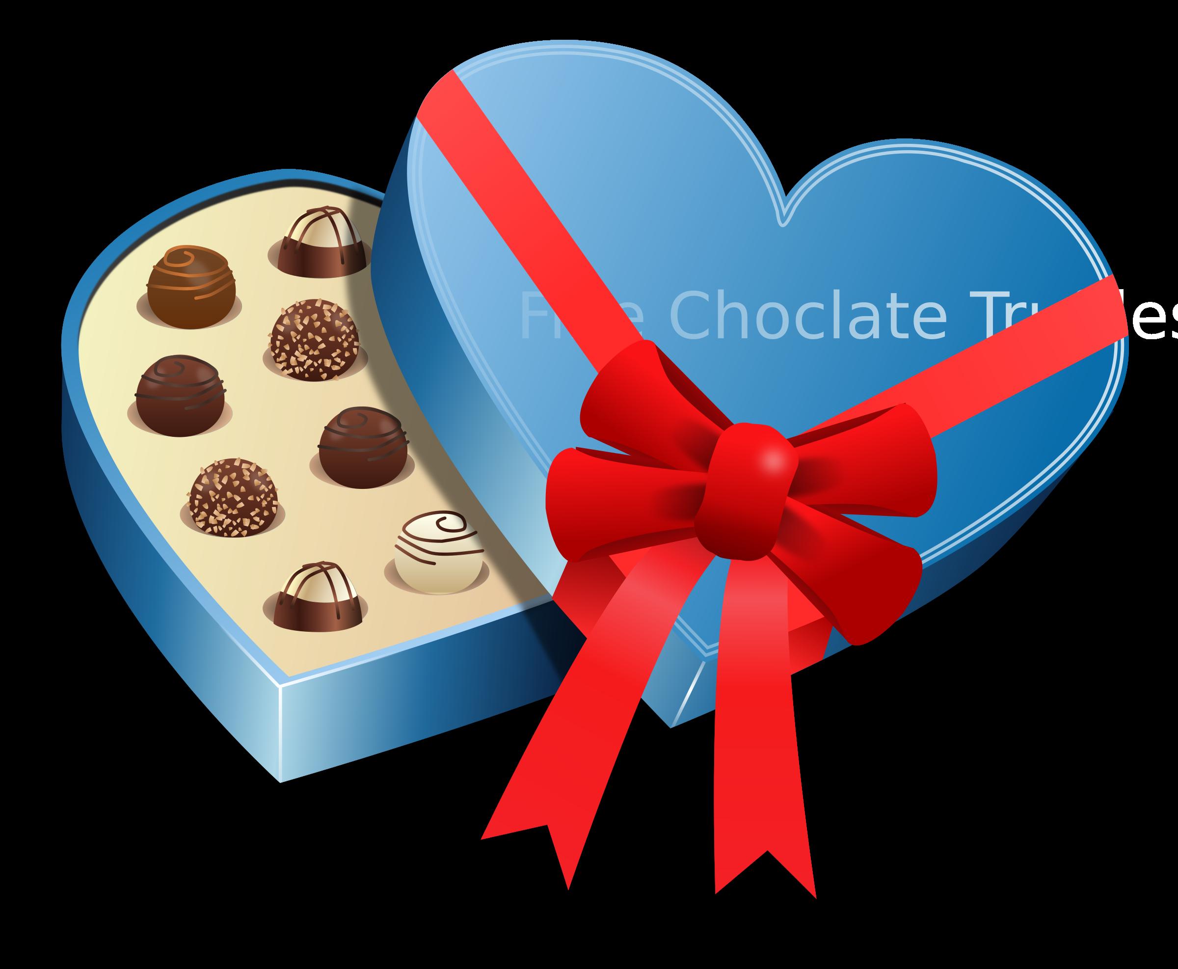Valentines day love choclate. Clipart box valentine