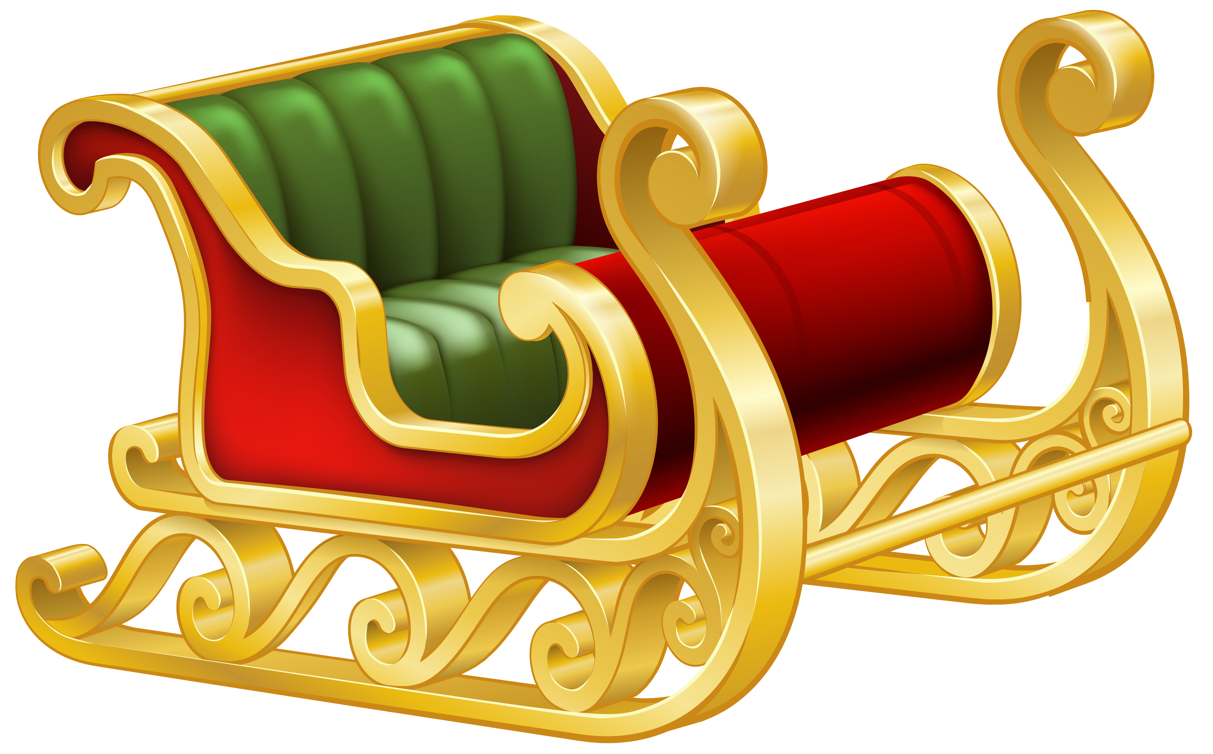 Heaven clipart all things bright and beautiful. Santa sleigh png clip