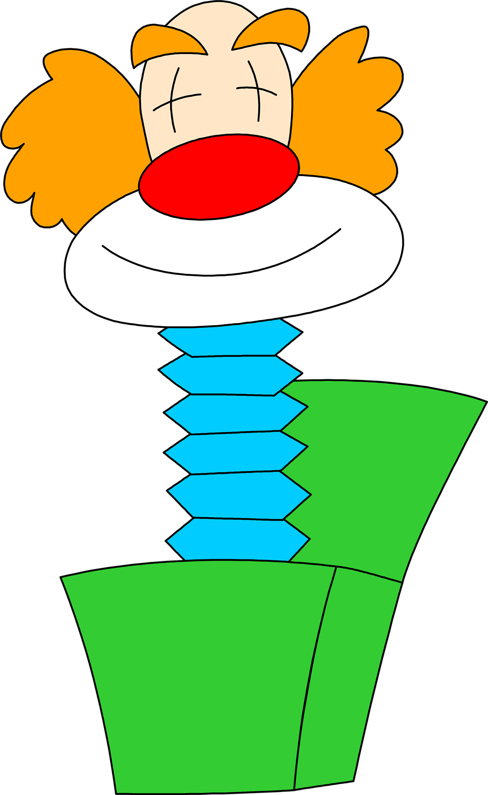 Clown clipart green. Jack in the box