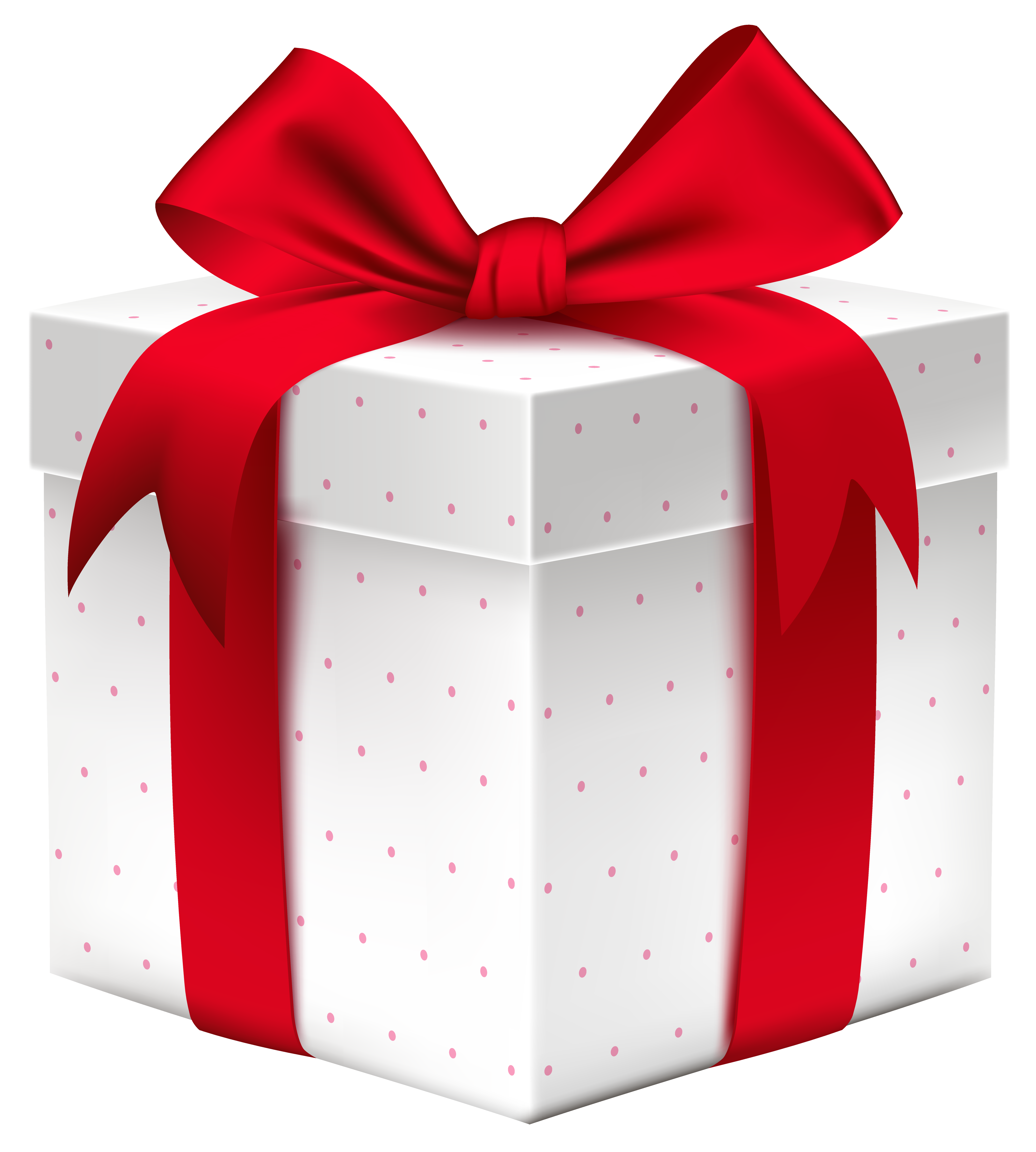 Gifts clipart small gift. White box with red