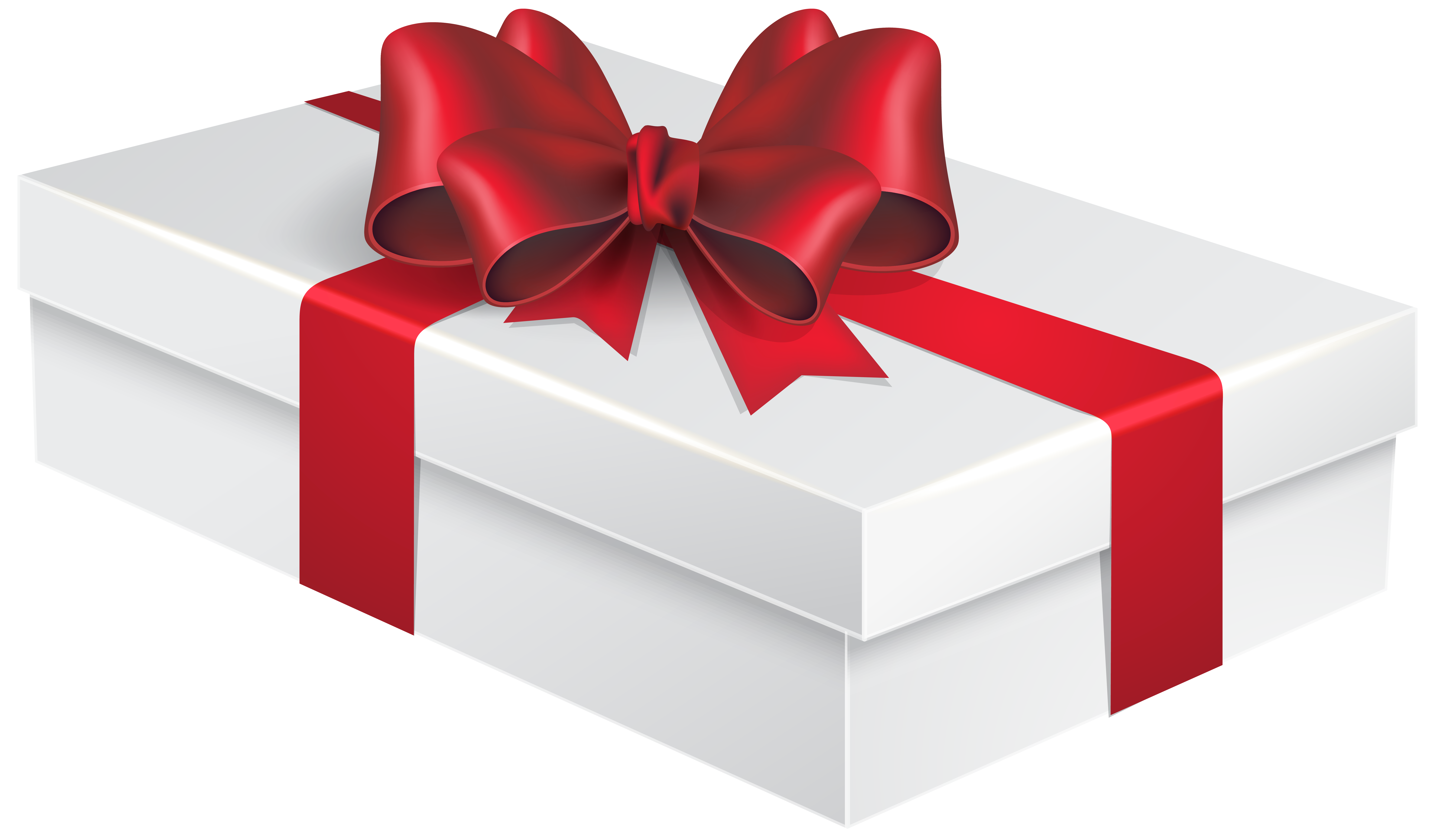 White gift box png. Clipart present tall