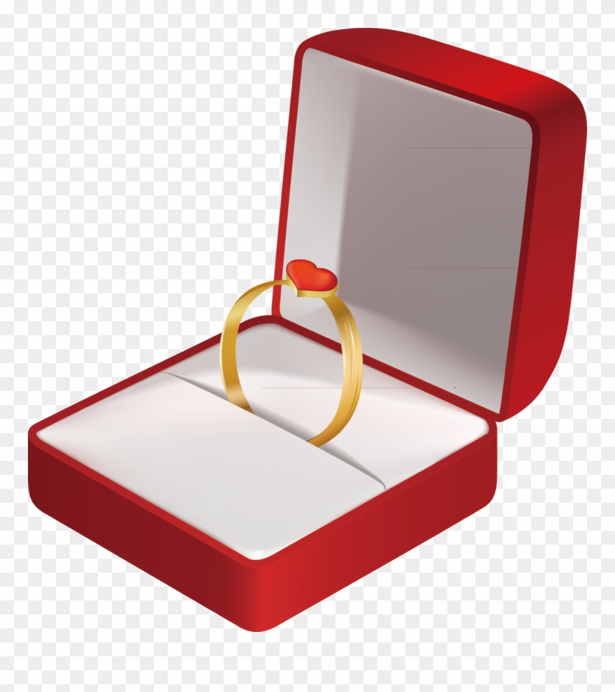 Image library stock ring. Engagement clipart in box