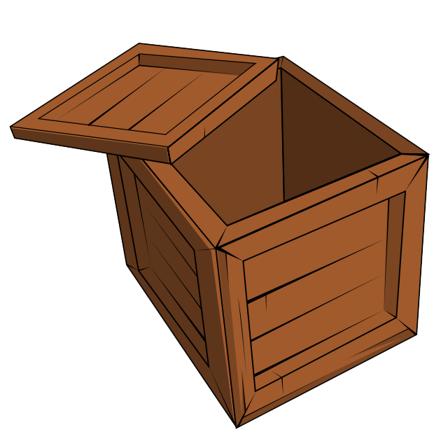 Clipart box wood box.  collection of open