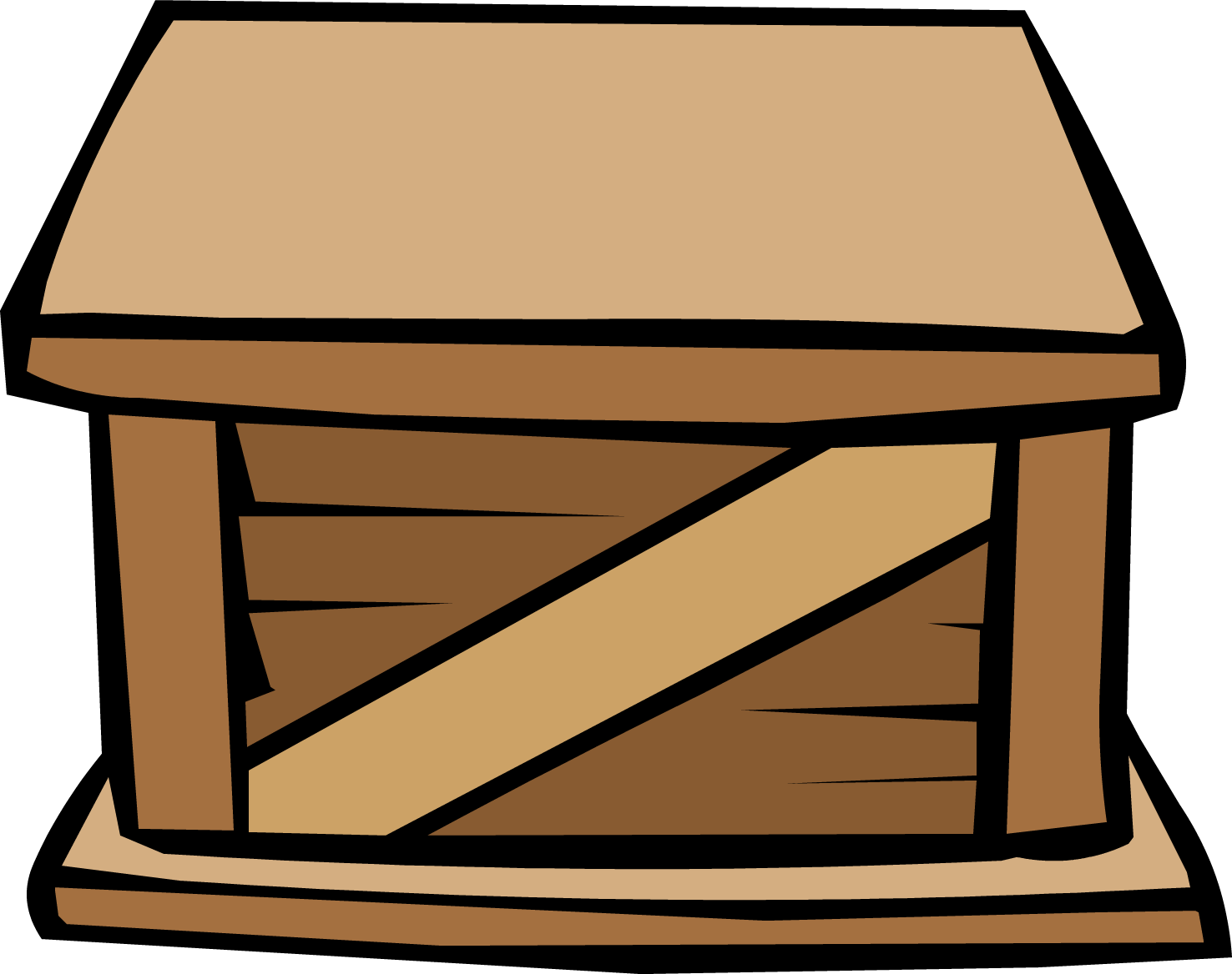 Clipart box wood box. Wooden crate club penguin