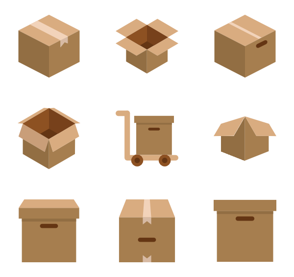Clipart box wood box.  shipping icon packs
