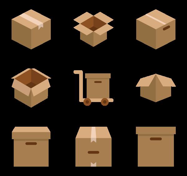 Ox clipart vector.  shipping box icon