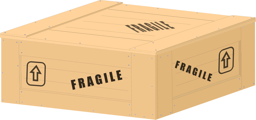 Wooden produce crate . Clipart box wood box