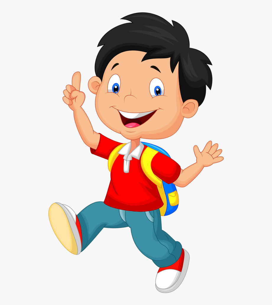 Play cartoon school child. Clipart boy