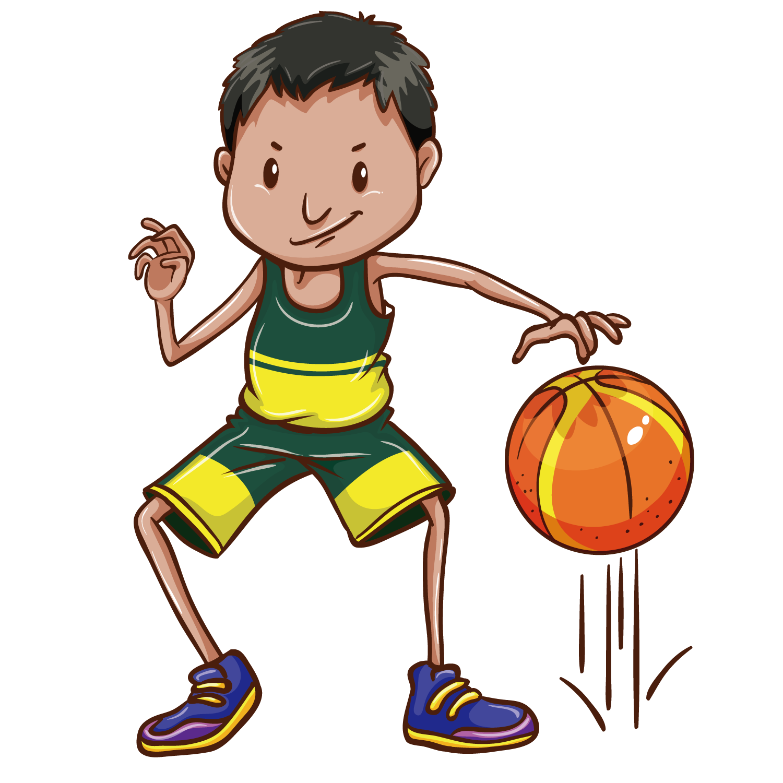 Drawing clip art transprent. Clipart boy basketball player
