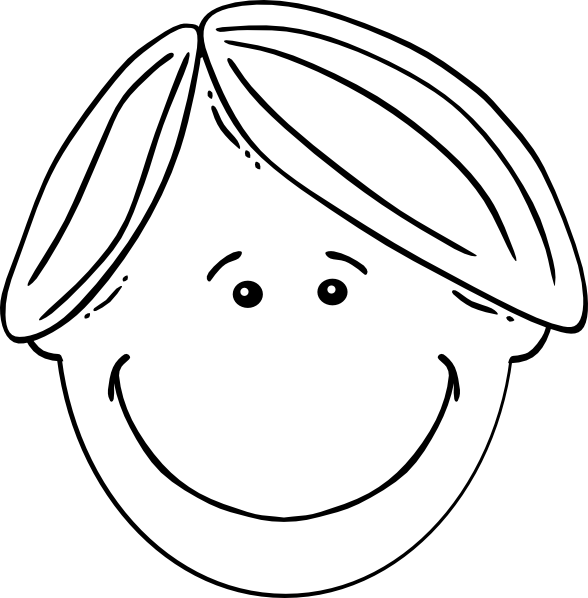 Clipart boy black and white. Clip art at clker