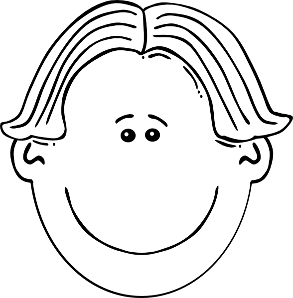Boy clip art at. Clipart face black and white