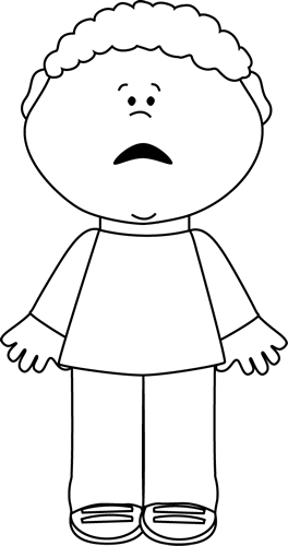 Clipart boy black and white. Scared little teach me