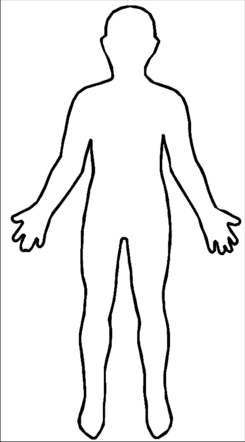 Human clipart human being. Body outline template datariouruguay