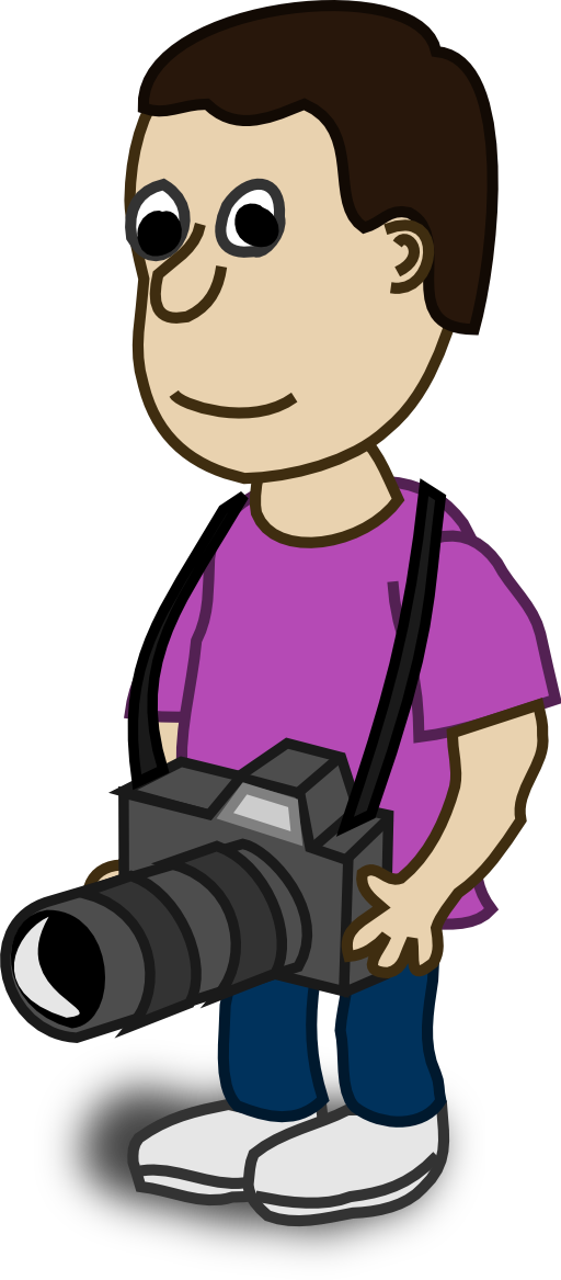 Comic characters i royalty. Clipart boy camera