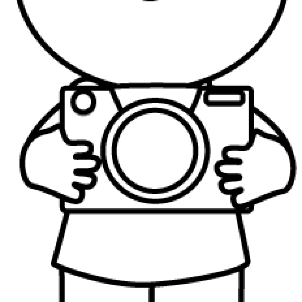 Clipart boy camera. Black and white easter
