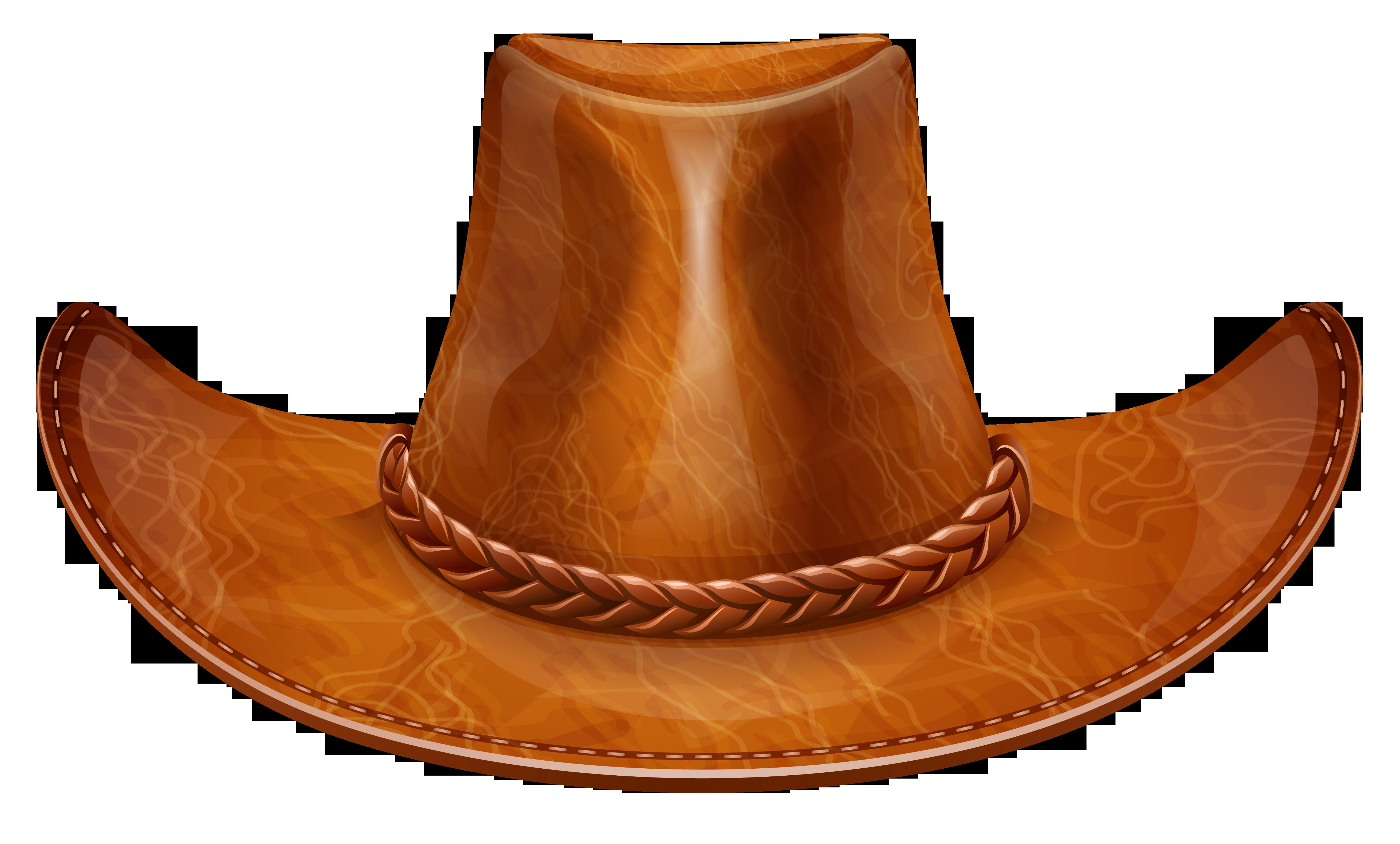 Brown cowboy hat png. Hats clipart cow boy