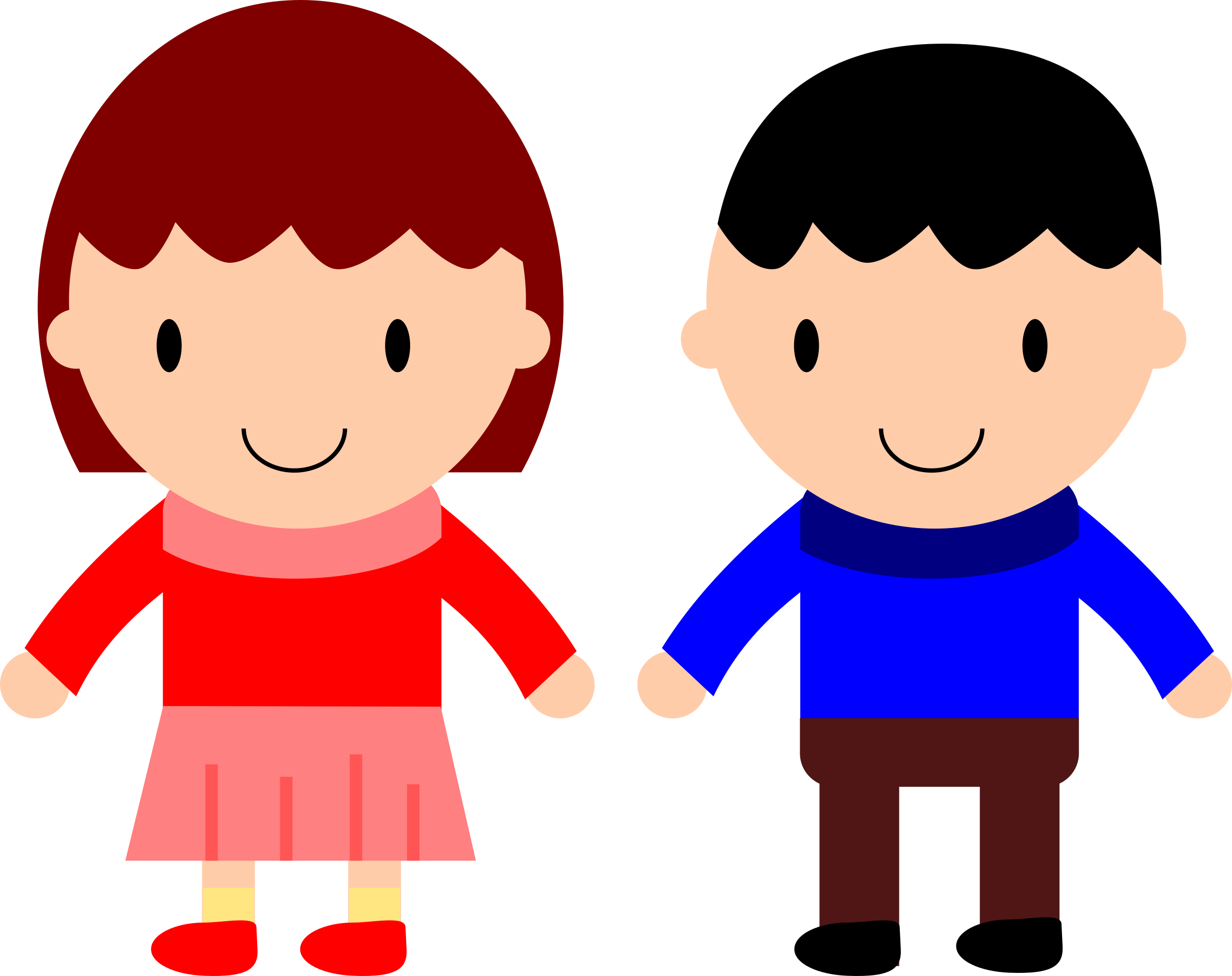 Cartoon girl and clip. Magic clipart boy