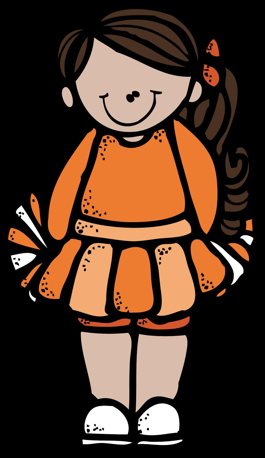 Clipart rock printable. Cheerleader melonheadz colored png