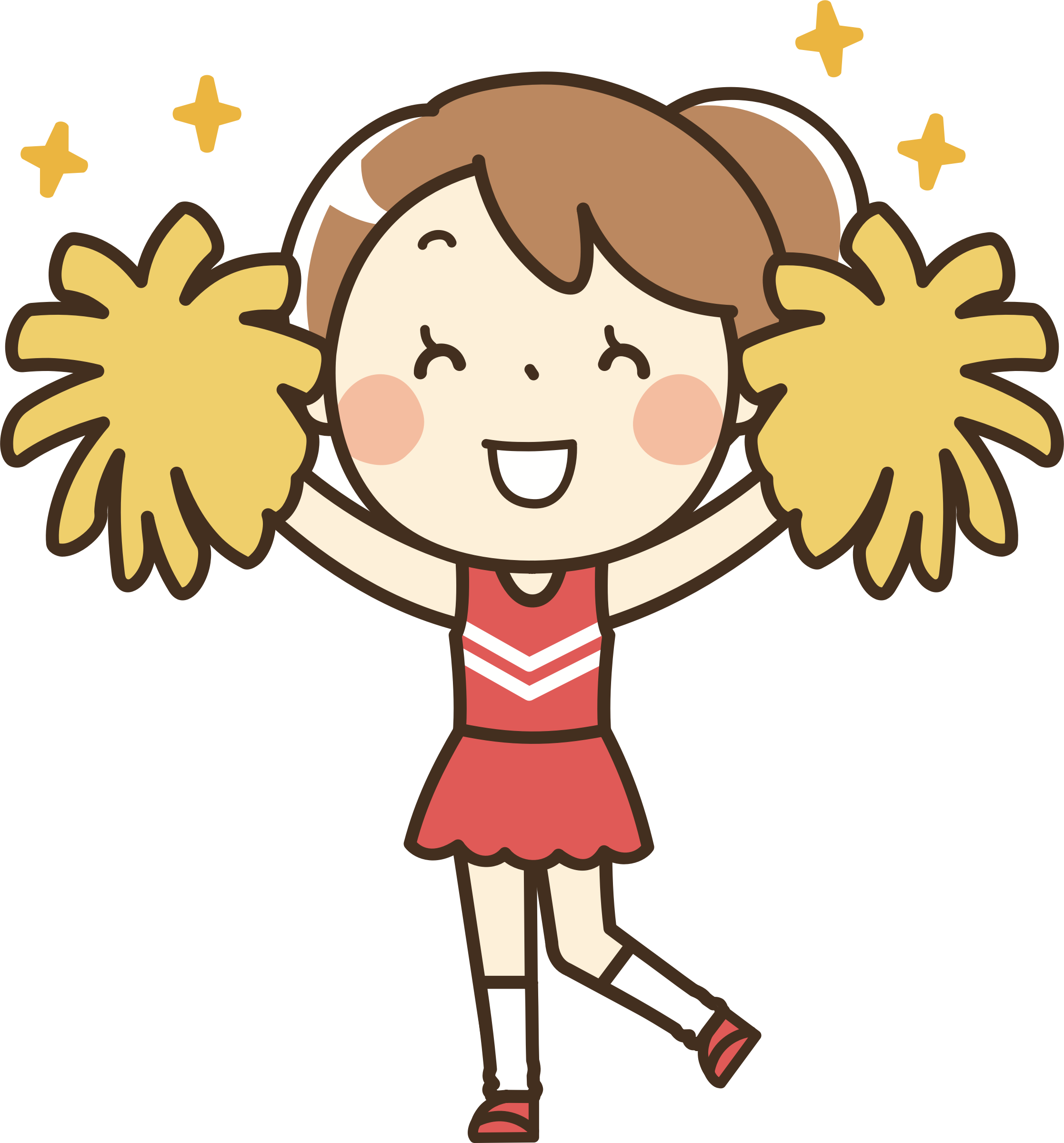 Clipart kids cheerleader. Remixed icons png free