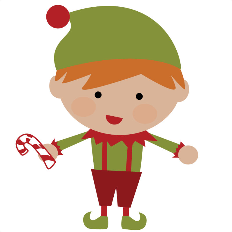 Excited clipart transparent background. Cute christmas elves