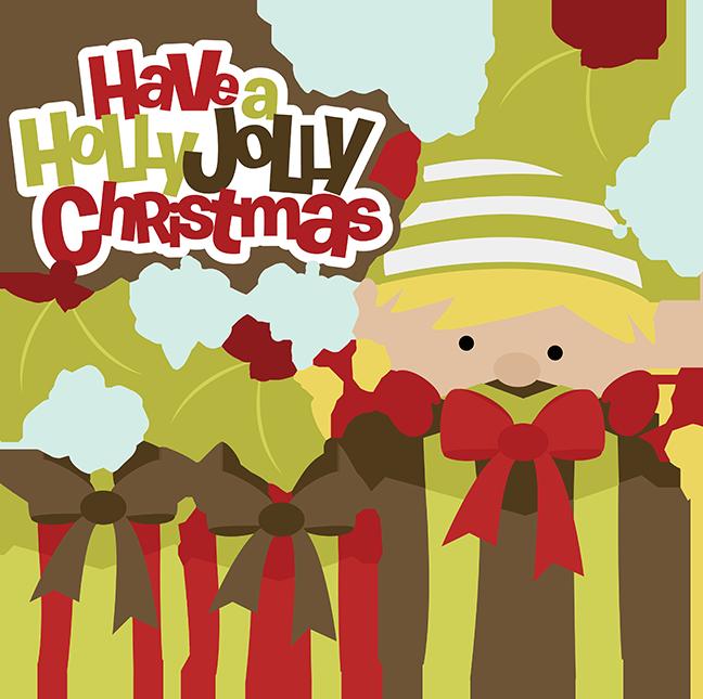 Have a holly jolly. Clipart boy christmas