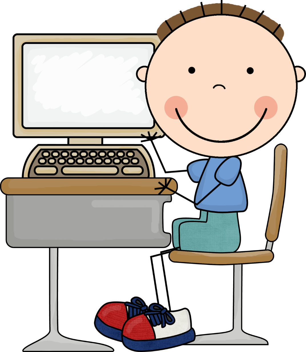 Computer clipart typing. Remote tutoring dyscover learning