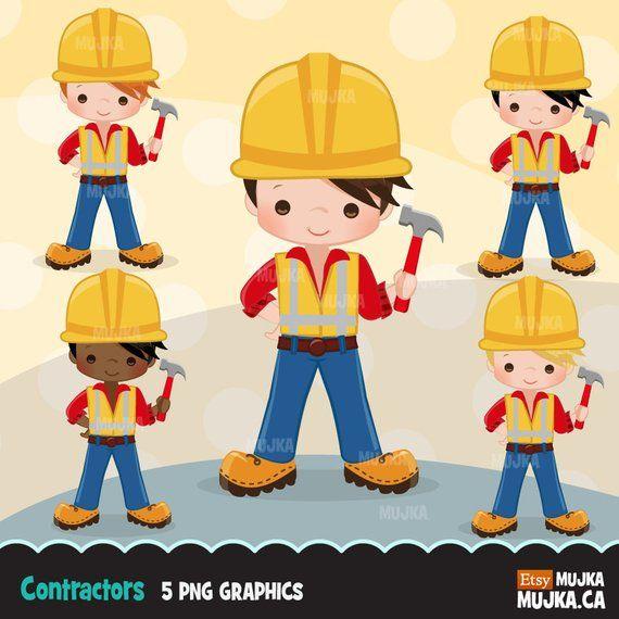 Contractor clipart constuction. Construction little boy graphics