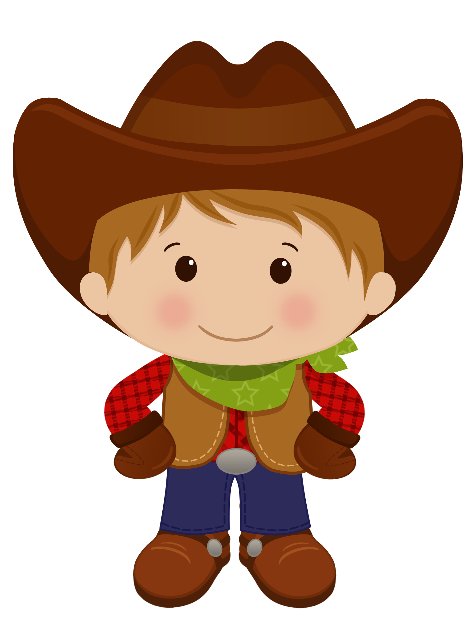 Red haired western cowgirl. Families clipart cowboy