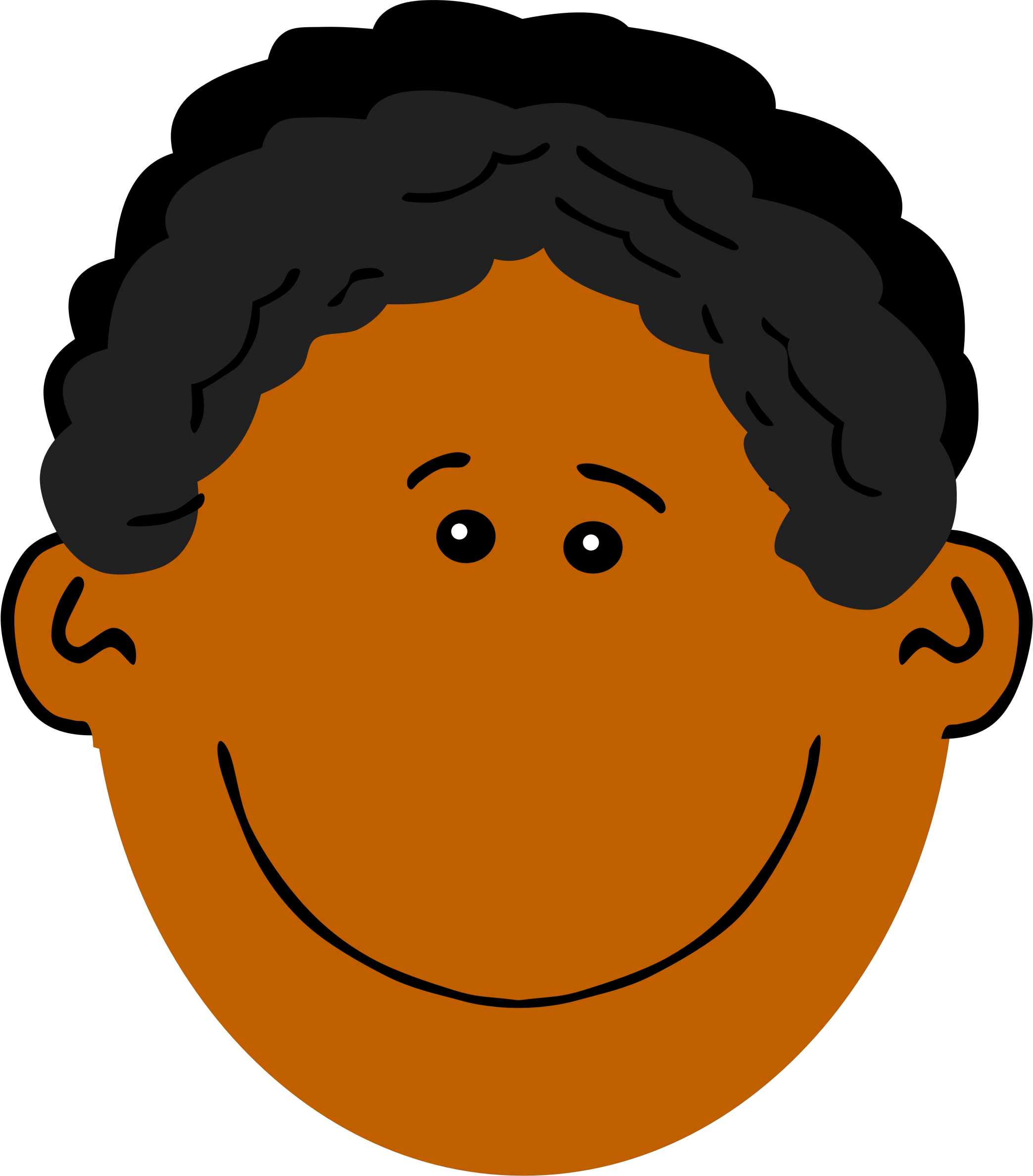 Father clipart brown hair. Dad with dark skin
