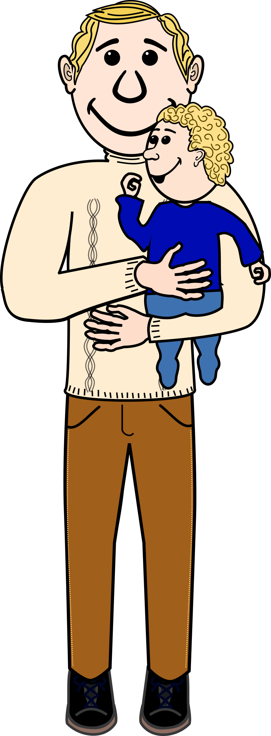 Father clipart father child. Dad and baby transparent