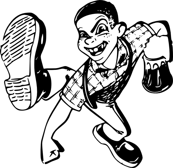 Boy clip art at. Draw clipart dancing kid