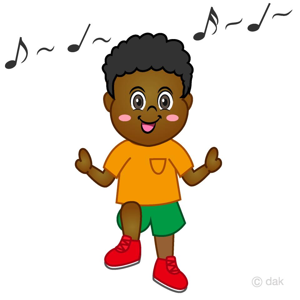 Dancing clipart dancing boy. Free picture illustoon