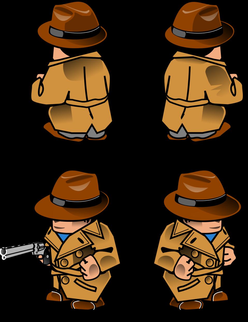 Public domain clip art. Detective clipart detective hat