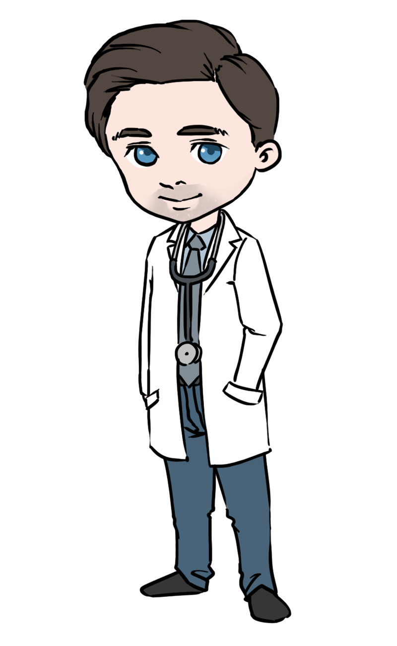 Young clipart young gentleman. Girl doctor with patient