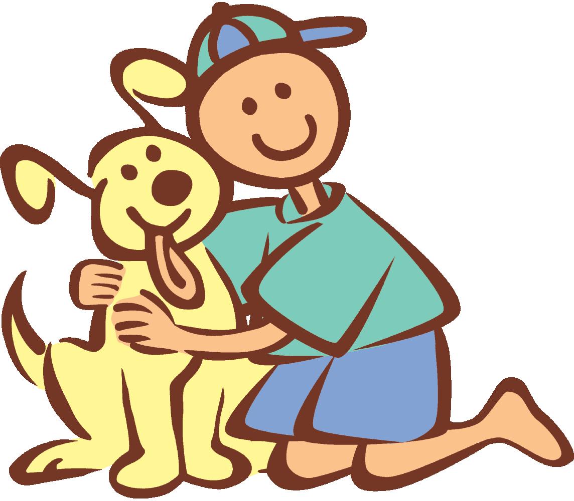 Hug dog pencil and. Pet clipart friend