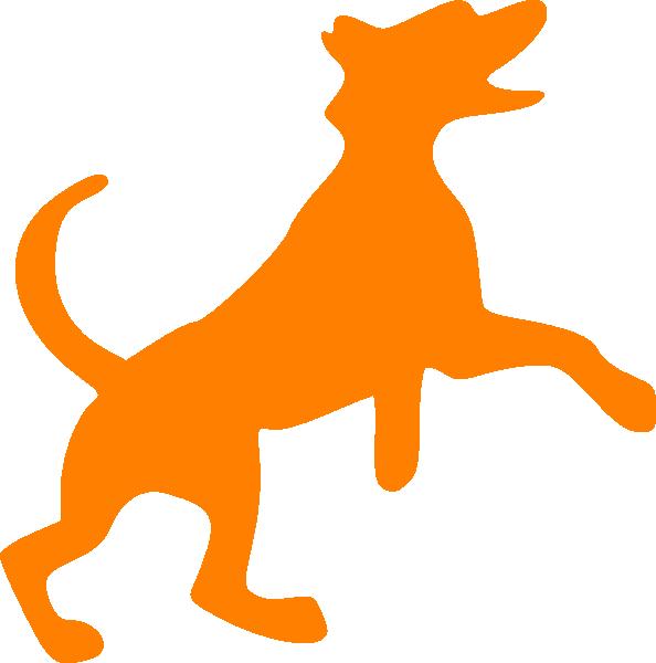 Orange dancing clip art. Picture clipart dog