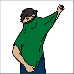 Clip art color i. Clipart boy dressing