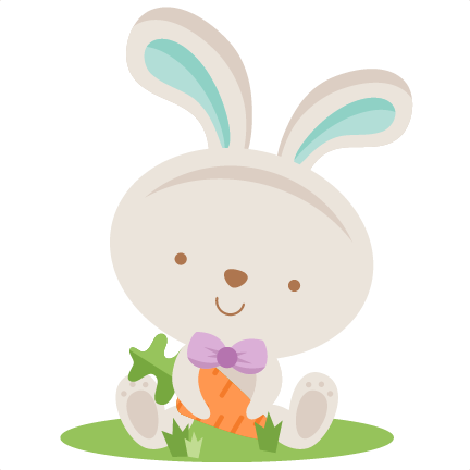 Clipart boy easter bunny. Holding carrot miss kate