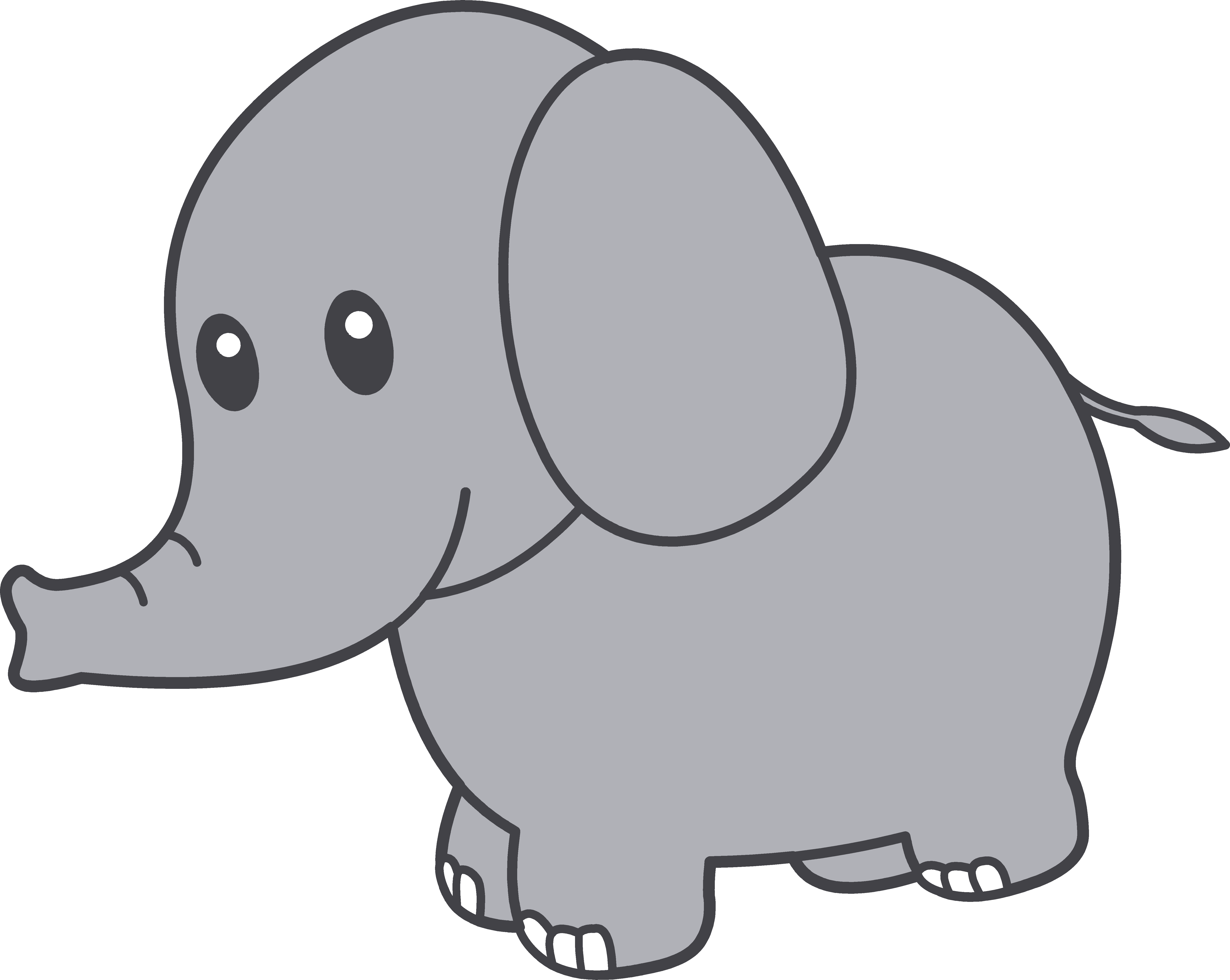 Cute elephant free images. Paws clipart timberwolf