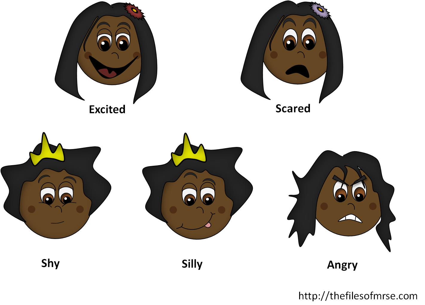 Emotions clipart shy