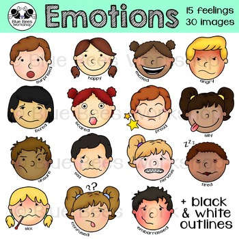 Emotions clip art kids. Feelings clipart teacher