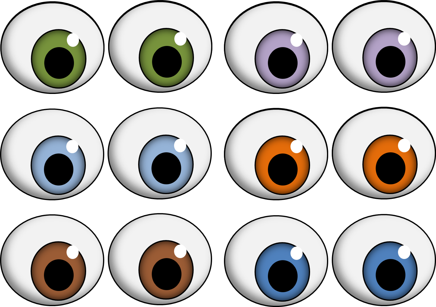 Oval eyes halloween pinterest. Monster clipart 3 eye