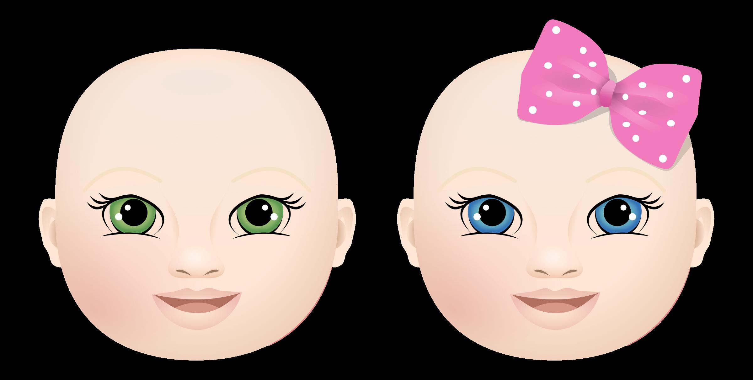 Faces clipart boy face. Baby girl big image