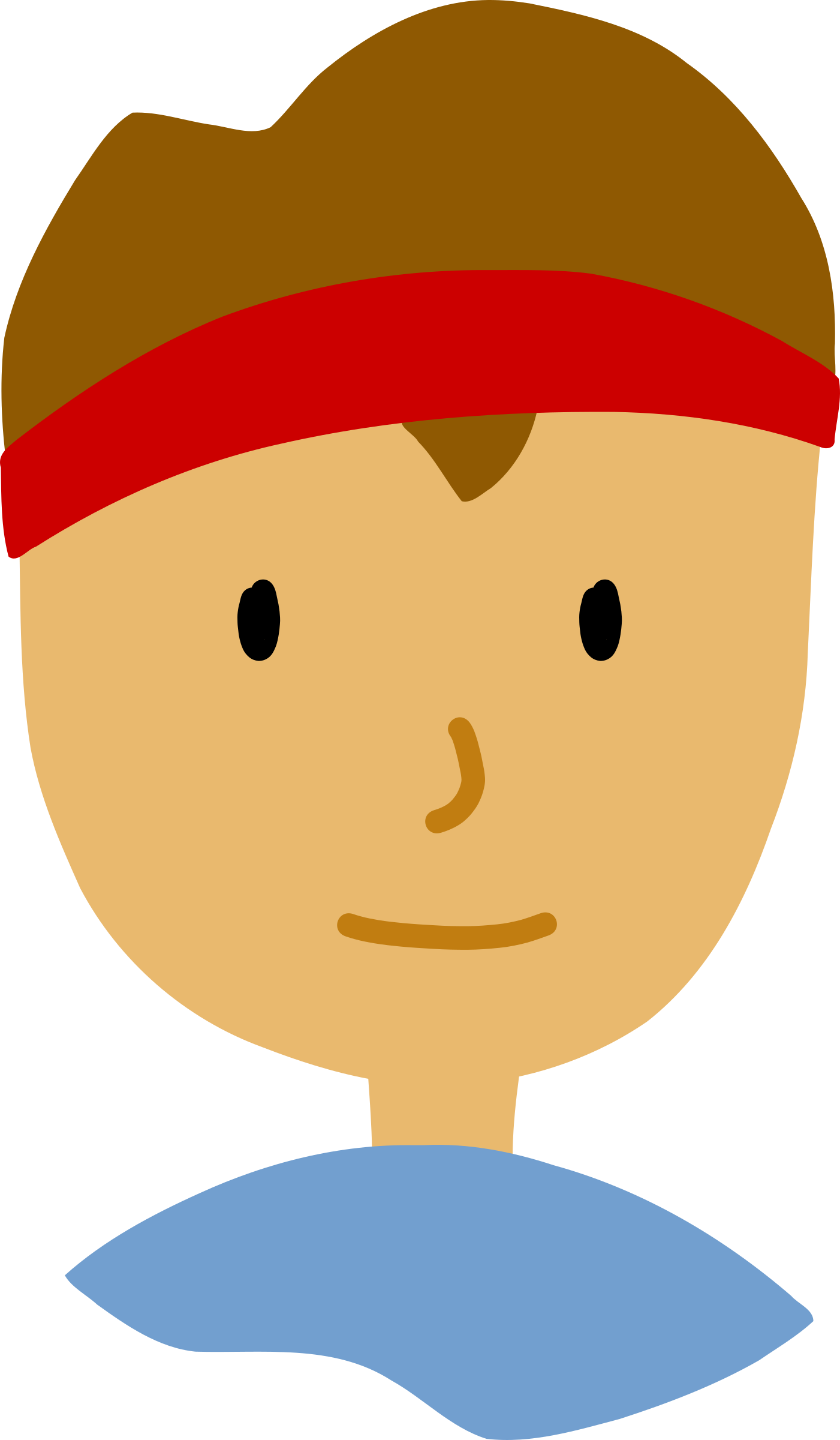 Face big image png. Young clipart brown haired boy
