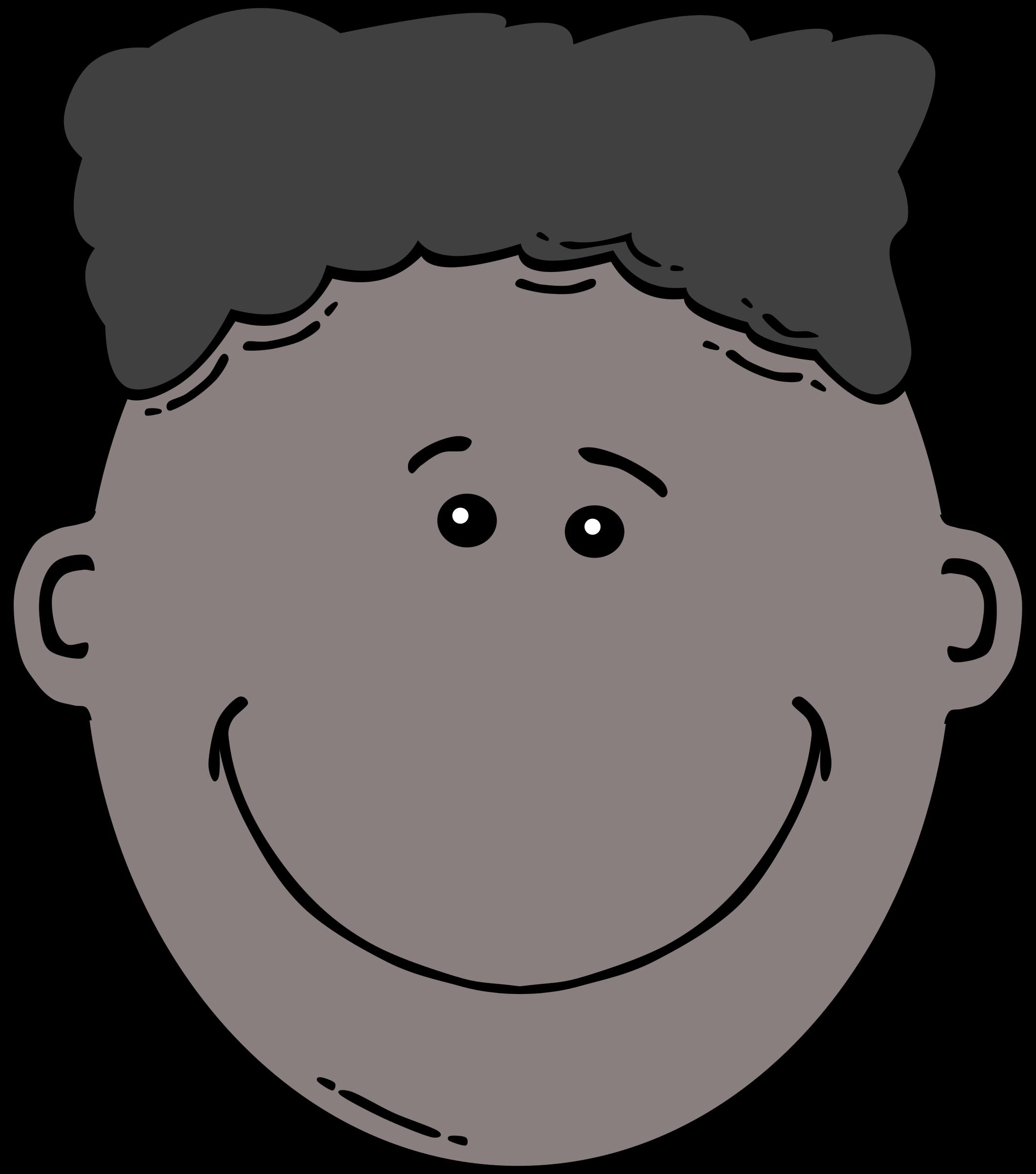 Clipart face children's. Boy cartoon big image