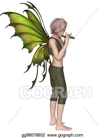 Stock illustration fairy playing. Fairies clipart boy