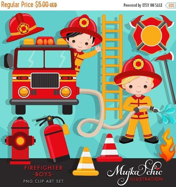 Boys cute fireman fire. Firefighter clipart attached