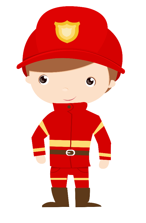 Firefighter clipart child. Fire engine drawing clip