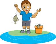 Free fishing cliparts download. Fish clipart boy