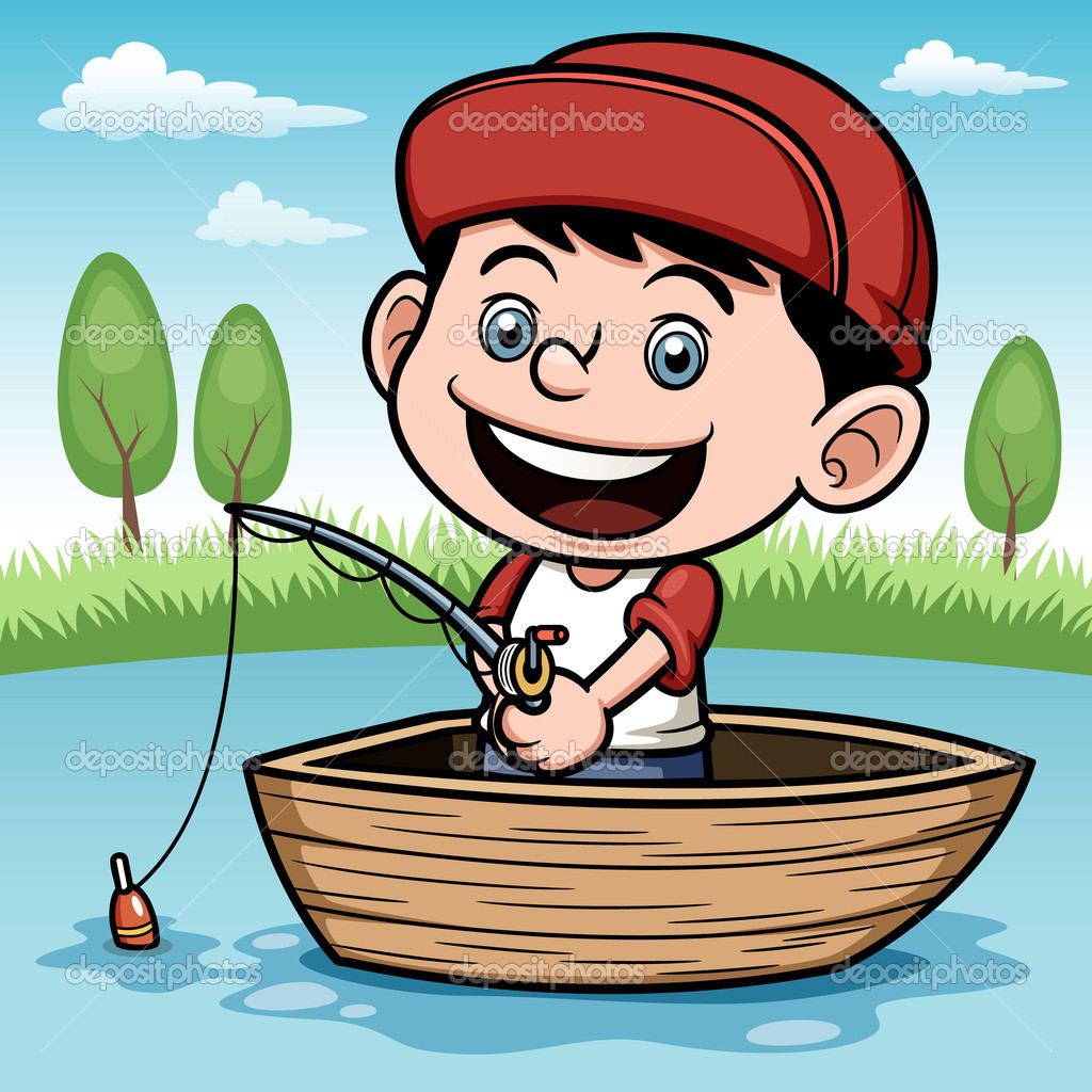 Free boy fishing cliparts. Fisherman clipart child